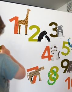 1,2,3,4. Blik wall decals has Numbers galore from 1 to 10.