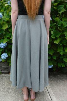 Flared church skirt