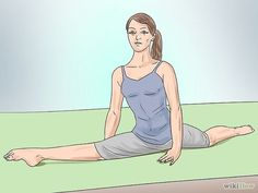 Do the Splits in a Week or Less Step 13: if struggling to get all the way down, take a deep breath and relax the muscles.