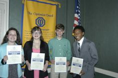 Contestants in this year's Zone 5 of the Alabama-Louisiana-Mississippi District's Oratorical Contest were, from left, Lexie Riley, a student at St.Pius X School; Michaela Hobson, a student at Mary G. Montgomery; Trace Naman, a student at St. Pius X School, and Jakard Logan, a student at Mary G. Montgomery (Arthur L. Mack/AL.com Contributor)
