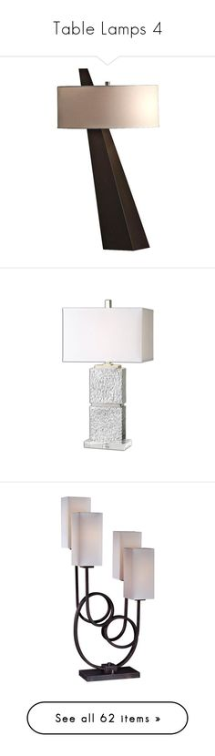 """""""Table Lamps 4"""" by mysfytdesigns ❤ liked on Polyvore featuring home, lighting, table lamps, lamps, brown, nova lighting, nova lamps, nova light, brown lamps and brown table lamps"""