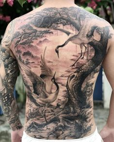Enjoy body art brilliance with awesome back tattoos for men and women that are masterpieces. The back is one of the most spacious areas for tattoos on the body. If you are looking for the best full-back tattoo idea then this collection is for you. Floral Back Tattoos, Cool Back Tattoos, Back Piece Tattoo, White Rose Tattoos, Back Tattoos For Guys, Line Art Tattoos, Back Tattoo Women, Black And Grey Tattoos, Realistic Tattoo Sleeve