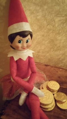 Chocolate coins from jingle elf on a shelf pinterest elves chocolate coins spiritdancerdesigns Gallery