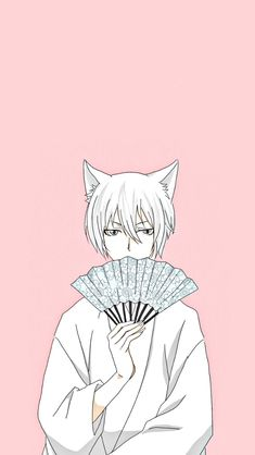 #kamisamahajimemashita #tomoefox #tomoe #anime #kawaii #background #pink #iphonewallpaper #phonewallpaper #wallpaper