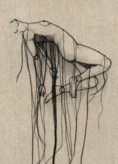 Thread sketches by Andrea Farina. Andrea Farina, a creative director for an advertising and marketing company in Connecticut. Uses many mediums--ink, watercolor, illustration, etc. Focuses on the human form and movement.