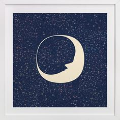 """""""Celestial Moon"""" by Katherine Morgan in beautiful frame options and a variety of sizes."""