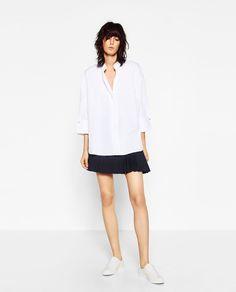 MANDARIN COLLAR SHIRT-Shirts-TOPS-WOMAN | ZARA United States