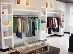 possibility for shelving Clothing Store Displays, Clothing Store Design, Boutique Interior Design, Boutique Decor, Store Layout, Store Interiors, Kids Store, Retail Design, Stores