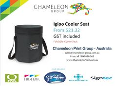 Igloo Cooler Seat - Chameleon Print Group - Australia	  http://chameleonprint.com.au/product/igloo-cooler-seat/