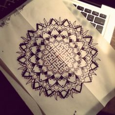 Sacred geometry mandala. Instagram.com/wollieallacetattooist