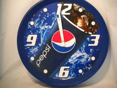 Vintage Pepsi Wall Clock by SeaPillowTreasures on Etsy, $33.95