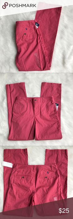 Polo by Ralph Lauren Khakis Polo by Ralph Lauren lightweight Khakis. Brand new. Size: boy16. 100% cotton. Color: coral. Never worn. Polo by Ralph Lauren Bottoms Casual