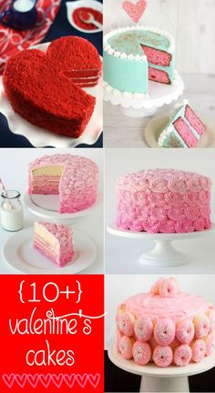 10+ Valentine's Cake Ideas. LOVE these cakes. { lilluna.com }