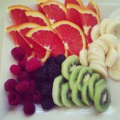 Fruta picada desayuno nutritivo