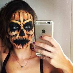 Halloween makeup, scary, jack\'o lantern, pumpkin | K || C Double ...