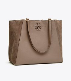 82dac63e6cb Tory Burch Mcgraw Mixed-materials Carryall