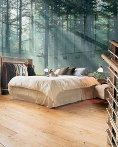 Glass Wall Bedroom, Sweden / Let the sun shine in...