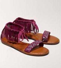 AEO Studded Fringe Sandal