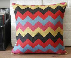 linen chevron cushion