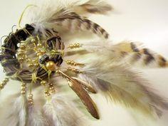 Horse Dancer's Handamde Golden Feathers Dream Catcher