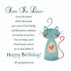 Send Or Share Free Birthday Cards For Son In Law Let Your Know How Much He Means To Family On His Special Day