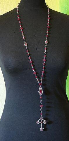 """Collana a rosario """"Rosario rosso"""" di Elefante Blu by Bertani Romano su DaWanda.com"""