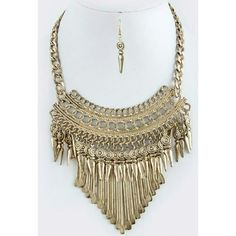 Tribal Statement Set Awesome tribal statement necklace & earrings.  *30% bundle discount! *Price Fine Jewelry