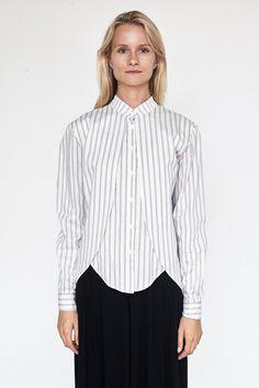 Cotton Stripe Calla Top