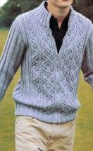 Free Knitting Patterns - Jackets for men Sweater Knitting Patterns, Knitted Poncho, Knitting Designs, Knit Patterns, Free Knitting, Knitting Charts, Jacket Pattern, Knit Fashion, Celtic