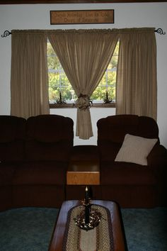 Country Window Treatment, Primitive Country Curtains, Rustic Window ...