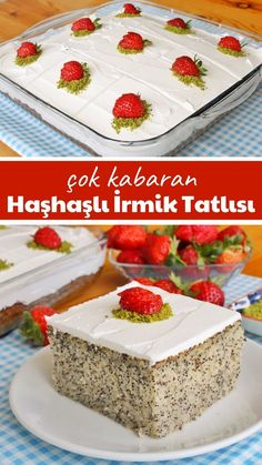 Delicious Cake Recipes, Homemade Cake Recipes, Yummy Cakes, Dessert Recipes, Yummy Food, Turkish Sweets, Fish And Meat, Fresh Fruits And Vegetables, Turkish Recipes