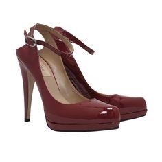 1stdibs   Valentino Patent Mary Jane Peep Heel Pump