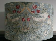 William Morris Strawberry Thief Large Handmade Drum Lampshade Table Lamp 40 cm #WilliamMorris #ArtNouveau Blue Lamp Shade, Country Style Homes, William Morris, Fabric Shades, Lampshades, Pendant Lamp, Drums, Art Nouveau, Strawberry