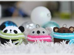 {DIY} Jolies boules de Noël kawaï au crochet