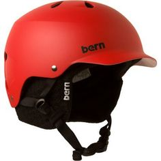 Bern Watts Matte Red with Black Knit Helmet by Bern. $54.60. Doesn't look like a spaceship landed on your head. Fits Head circumference 57-59 cm / 22 1/2-23 1/4 inches. Certified ASTM F2040, CPSC and EN1078. The Watts combines a visor with top and back vents to provide a balance of airflow and style. Sun, rain and snow - you name it - the Watts defends against it.