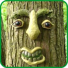 TREE FACES/FENCE FACES by Truly Madly Garden