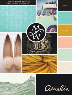New Brand Launch: Ashlyn Burke Events - Salted Ink Design Co. | Inspiration Board | find image credits at www.saltedink.com