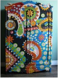 """Carnival evoking cabinets of Argentinian designer Lucas Rise. His inspiration comes from Africa, from """"the carnival, circus and park imagery."""""""