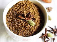 Biryani masala powder or chicken masala powder is a spice mix that is used to prepare fragrant biryani rice like chicken biryani or vegetable biryani. It can also be used to make chicken masala curry. Veg Recipes, Curry Recipes, Indian Food Recipes, Cooking Recipes, Smoker Recipes, Milk Recipes, Cooking Tips, Healthy Recipes, Masala Tea