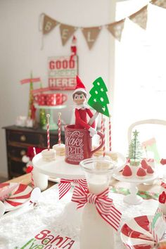 North Pole Breakfast with Santa's Christmas Elf | CatchMyParty.com