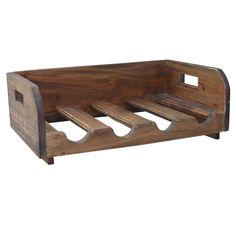 Clemmence Recycled Wood 4 Bottle Tabletop Wine Bottle Rack