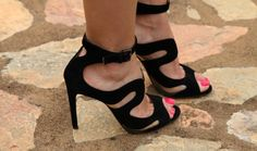 Black Alaia heels