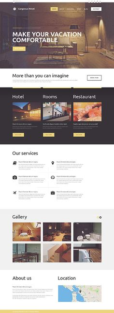 Template 49248 - Gorgeous Hotel Responsive WordPress Theme