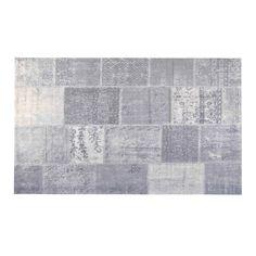 Patchwork karpet 170x240cm zilver van het merk Brix! Shop je online en zonder verzendkosten bij deleukstemeubels.nl