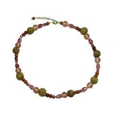 Opaque recycled glass mixed with wire-wrapped beads, faceted glass beads, and wood. Handmade by low-income women artisans in New Delhi, India, who are part of a fair trade organization. Country of origin: India Roxy Recycled Glass Bead Necklace- Grape [CA$30.00] #jewelry #freeshipping #fairtrade