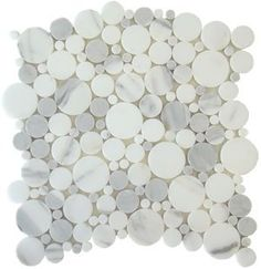 Calacatta Gold Bubble Pattern Polished Marble Mosaic Tiles Marble From Italy. Mosaic Tile Direct