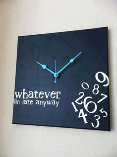 Canvas wall clock. Looks super easy to make.