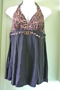 Lane Bryant Cheetah Print Plus Size Swimsuit 18 #LaneBryant #Swimdress