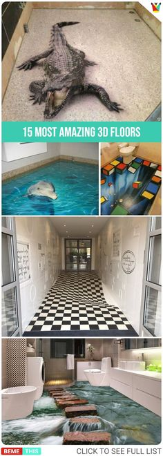 15 Most Amazing 3D Floors #3d #3dfloors #amazing #amazingart #artwork #animation #artist #art #bemthis