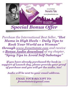 "Special Bonus Offer when you purchase ""Hot Mama in High Heels - Daily Tips to Rock Your World As a Woman"""